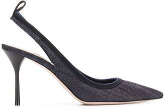 Miu Miu denim slingback heels