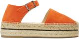 Jimmy Choo Orange Suede Delphine Platform Espadrilles