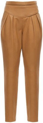 RED Valentino High Waist Leather Pants