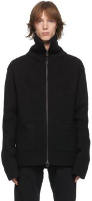Haider Ackermann Black Wool Zip Cardigan