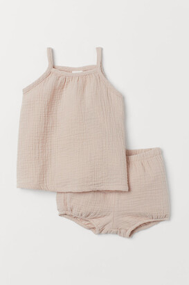 H&M Tank Top and Puff Pants - Beige