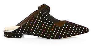 Alexandre Birman Women's Polka-Dot Flat Mules