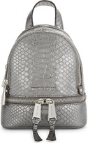 MICHAEL Michael Kors Rhea extra-small crocodile-embossed leather backpack