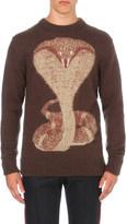 Givenchy Snake intarsia jumper