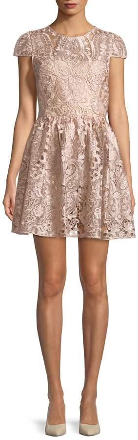 Alice + Olivia Women's Gracia Embroidered Dress