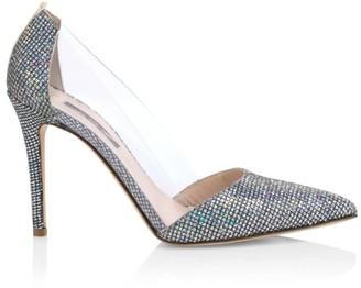 Sarah Jessica Parker Femme Glitter & PVC Pumps