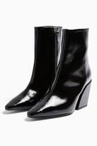 Topshop CONSIDERED VALENCIA Vegan Black Western Boots