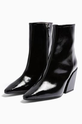 Topshop Womens Considered Valencia Vegan Black Western Boots - Black