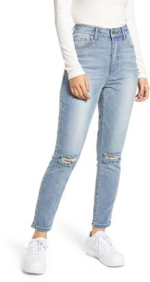 Prosperity Denim Ripped High Waist Mom Jeans