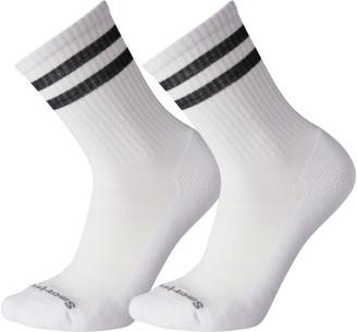 Smartwool Athletic Light Elite 2-Pack Stripe Crew Socks