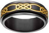 Celtic Black & Yellow Ion-Plated Titanium Knot Spinner Band