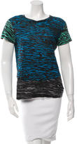 Proenza Schouler Printed Short Sleeve Top
