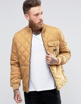 Lee Quilted Jacket Dijon Yellow
