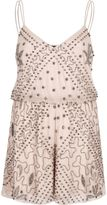 River Island Womens Pink nude embellished cami playsuit