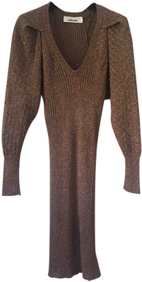 Circus Hotel Gold Wool Dresses