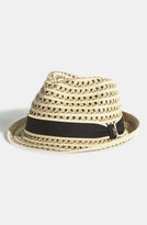 Tommy Bahama Men's Braided Paper Fedora - Beige
