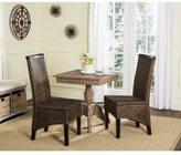 Safavieh Rural Woven Dining Ilya Brown Multi Wicker Side Chairs (Set of 2)