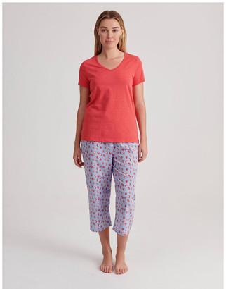 S.O.H.O New York V-Neck 3/4 Pyjama Set in Strawberry