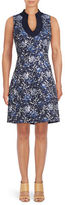 Belle By Badgley Mischka Floral Jacquard Sheath Dress
