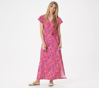 BROOKE SHIELDS Timeless Petite Short-Sleeve Maxi Dress