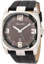 Police Men's EDGE PL.12963JS/01 Calf Skin Analog Quartz Watch with Dial