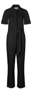 Komodo Sustainable Tencel and Linen Trapeze Jumpsuit in Coal - 8