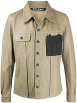 Palm Angels contrasting pocket buttoned jacket