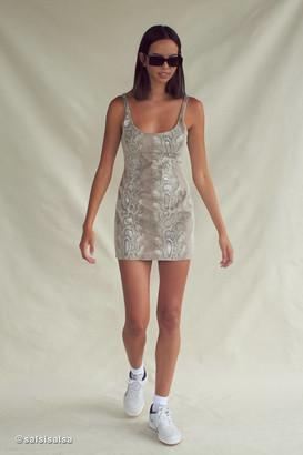 Urban Outfitters Snake Print Bodycon Mini Dress