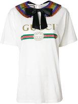 Gucci logo collared T-shirt
