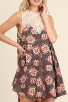 Umgee USA Floral Print Dress