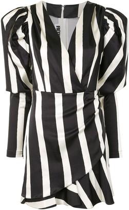 Rotate by Birger Christensen V-neck block stripe dress