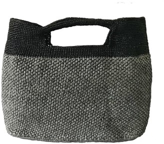 Maraina London Juliette Grey Large Beach Raffia Tote Bag