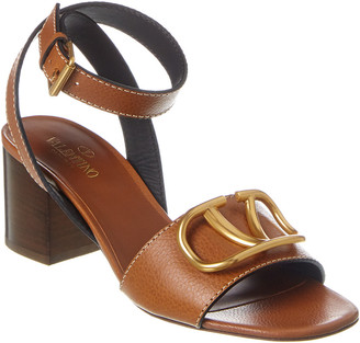 Valentino Vlogo 60 Ankle Wrap Leather Sandal