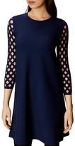 Karen Millen Lattice-Sleeve Dress