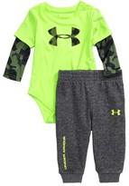 Under Armour Infant Boy's Big Logo Bodysuit & Pants Set
