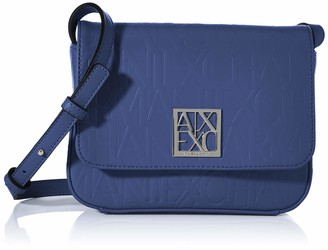 Armani Exchange A X Women's Small Logo All Over Debossed Shoulder Strap Bag