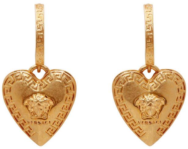 Versace Gold Love Medusa Earrings