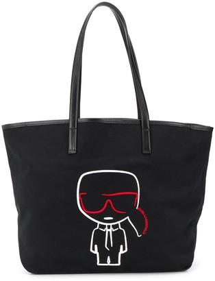 Karl Lagerfeld Paris K/Ikonik embroidered tote bag