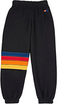 Aviator Nation Block-Striped Sweatpants-DARK GREY