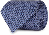 Corneliani Blue Printed Silk Tie