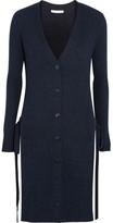 See by Chloe Side-split Ribbed Wool Cardigan - Storm blue