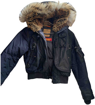 Parajumpers Blue Polyester Leather jackets