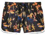 River Island Mens Black Day of the Dead swim shorts