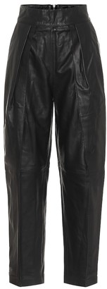 Maticevski High-rise straight leather pants