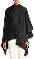 Loro Piana Madison Cashmere-Blend Wrap, Black
