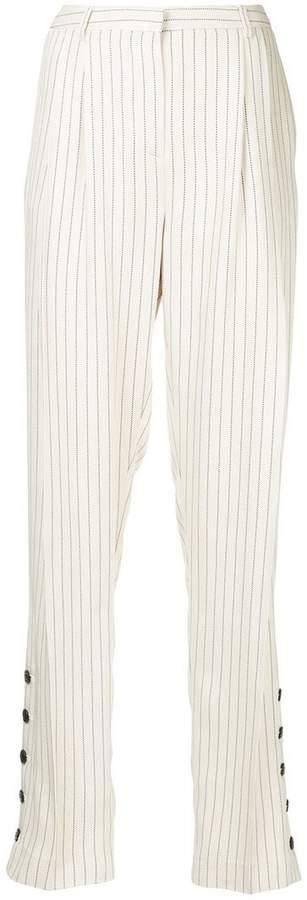 Altuzarra striped button cuff trousers