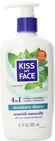 Kiss My Face Cool Mint Moisture Shave, 11 Ounce (Pack of 4)