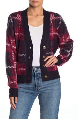 Nordstrom Abound Front Button Plaid Print Cardigan