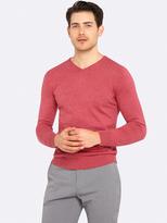 Oxford Basic Cotton V-Neck Pullover