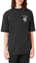Topman Men's Studio Distressed T-Shirt